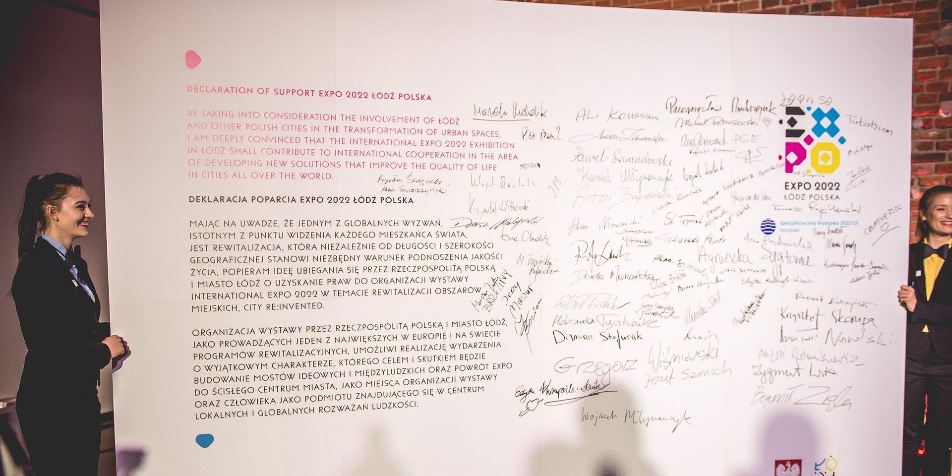 Ceramika Paradyż podpisała deklarację poparcia dla organizacji wystawy EXPO 2022 w Łodzi