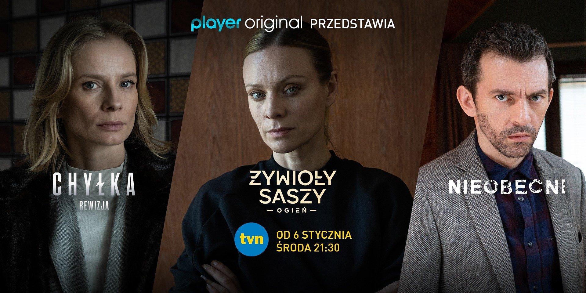Pierwsze odcinki najnowszych produkcji Player Original w TVN!