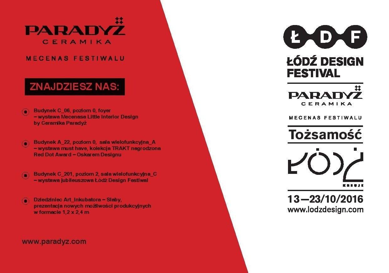 Ceramika Paradyż po raz 10. zaprasza na Łódź Design Fetival