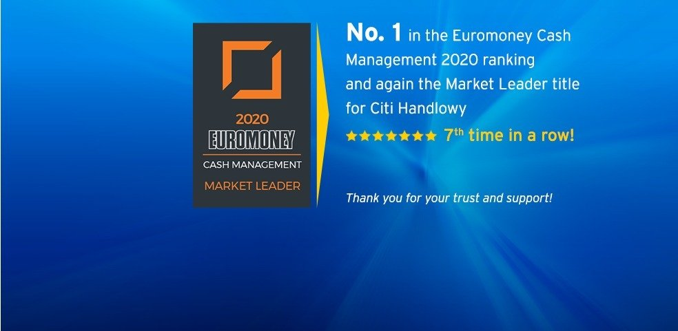 Citi Handlowy tops rankings of Cash Management in Poland, for the seventh time