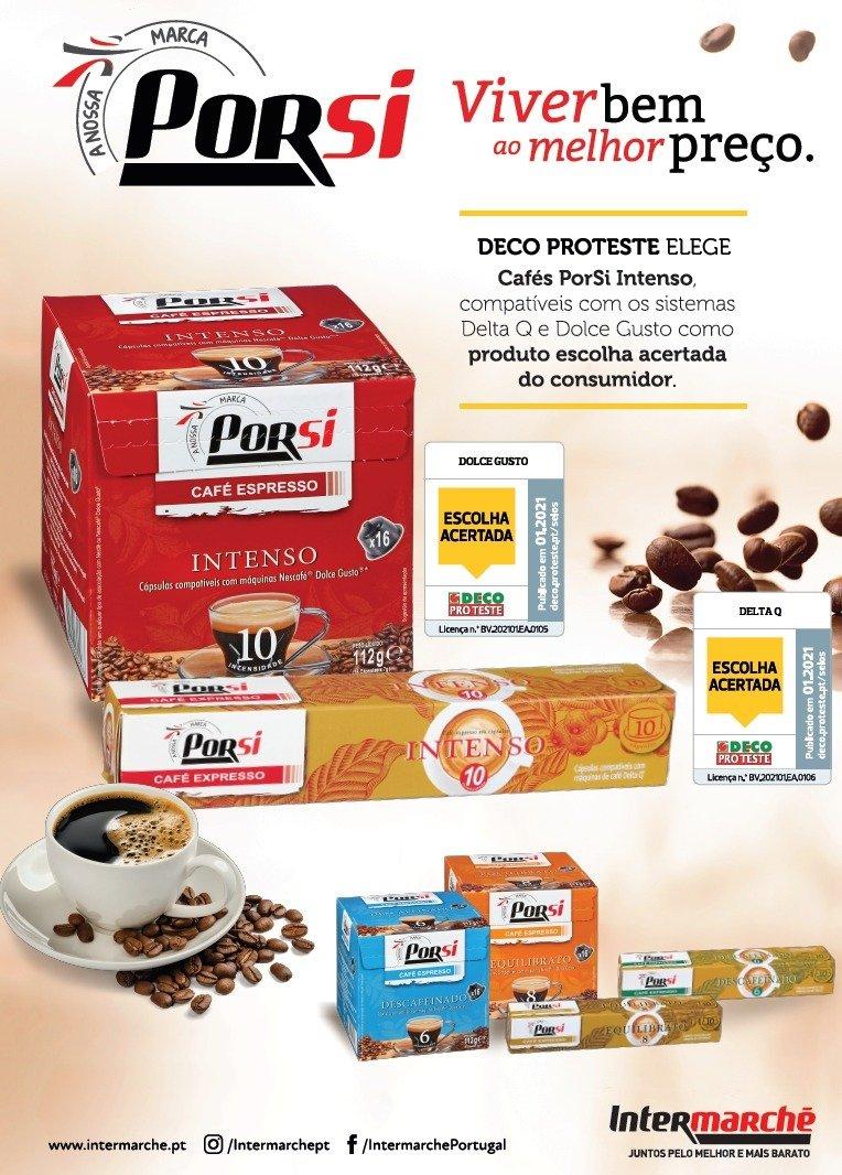 Cápsulas de Café da marca PorSi do Intermarché eleitas Escolha Acertada pela Deco Proteste