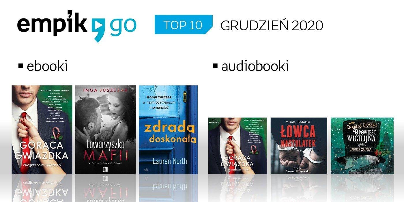 Lista TOP 10 audiobooków i e-booków w aplikacji Empik Go w grudniu