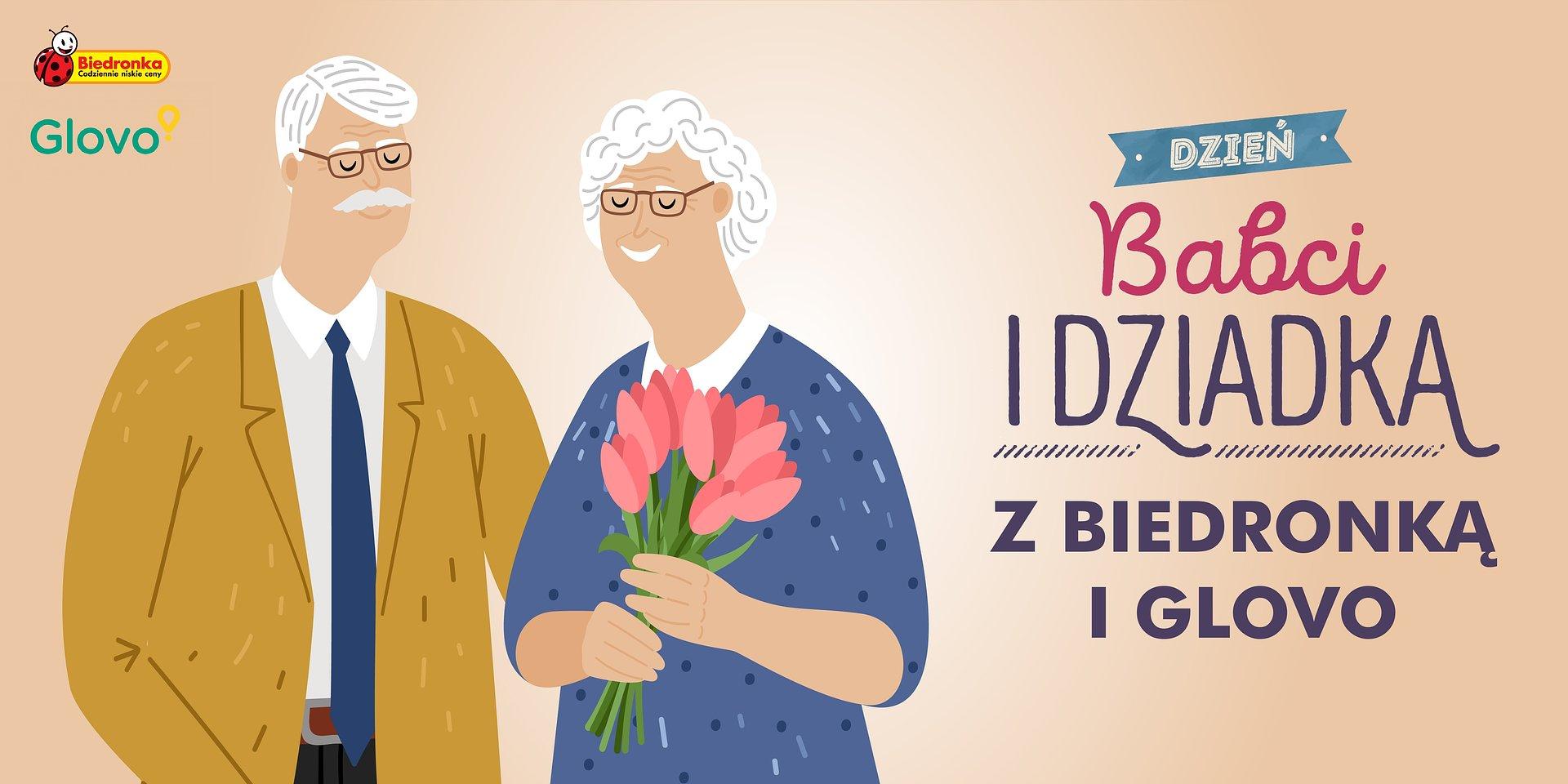 Biedronka wraz z Glovo w Dzień Babci i Dziadka z darmową dostawą prezentów