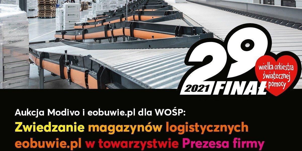 Wspieramy WOŚP: Zwiedzaj centrum eobuwie.pl i Modivo w towarzystwie Marcina Grzymkowskiego, założyciela obu platform!
