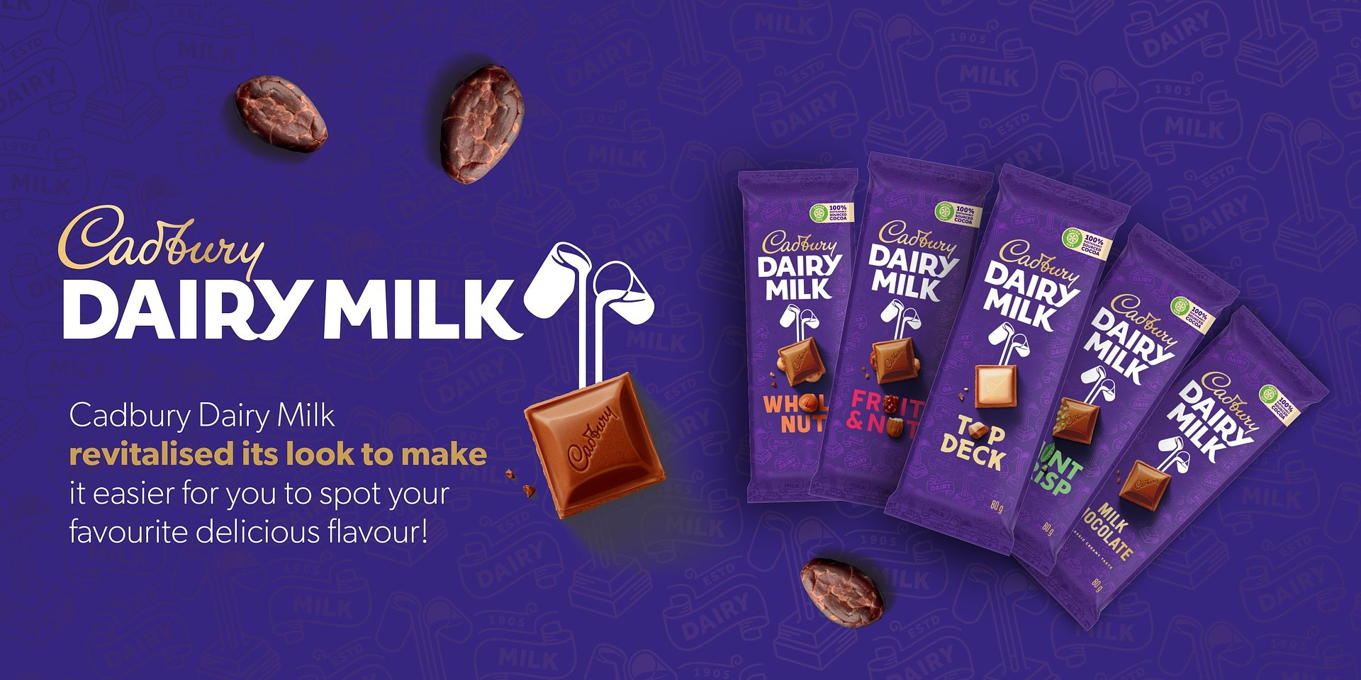 Cadbury Dairy Milk Celebrates Its New Look
