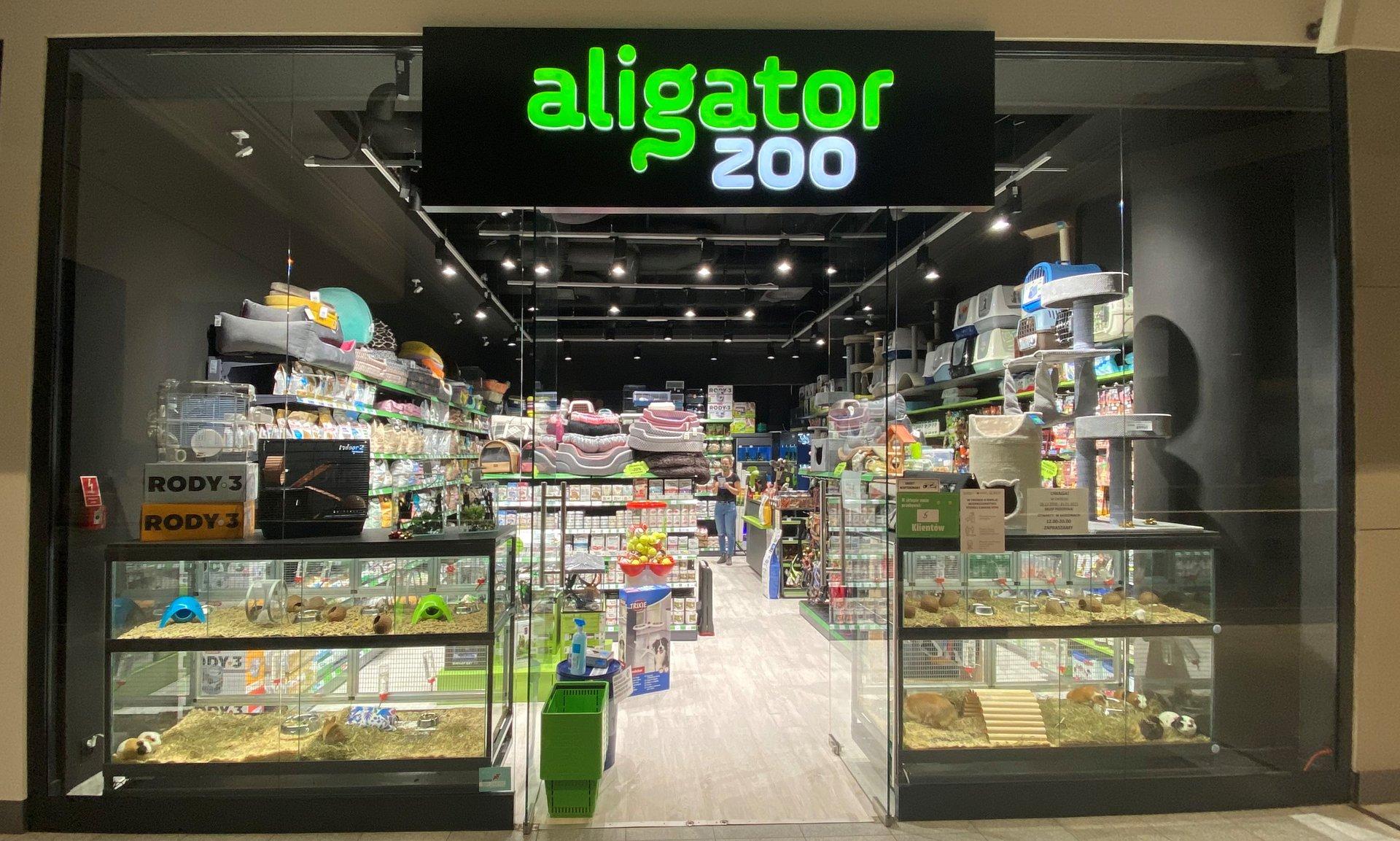 Sklep zoologiczny Aligator w Galerii Warmińskiej