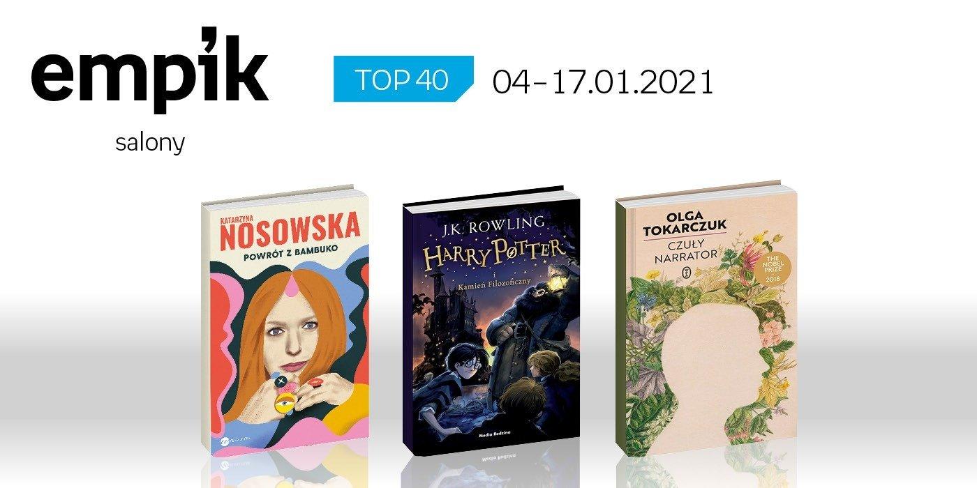 Książkowa lista TOP 40 w salonach Empik za okres 4-17 stycznia