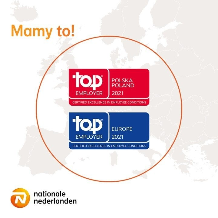 Nationale-Nederlanden po raz kolejny z tytułem Top Employer