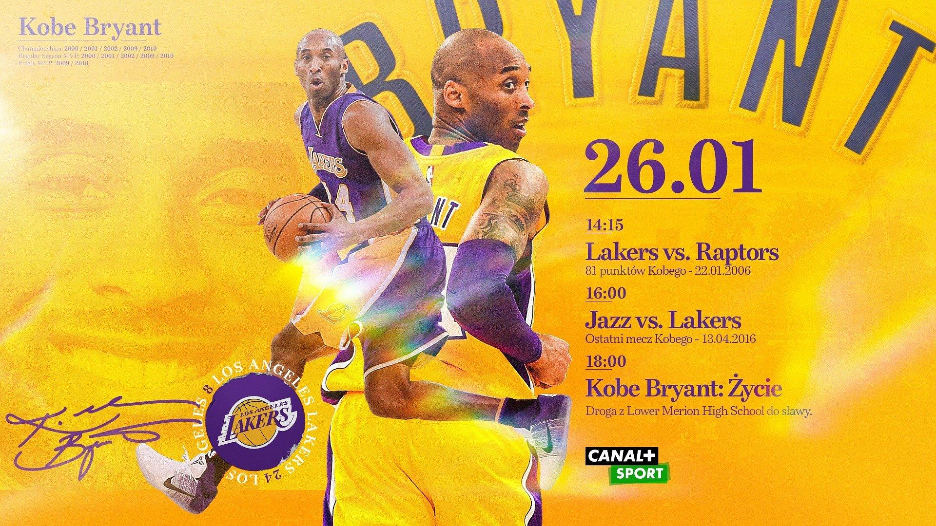 Wspomnienie Kobego Bryanta w CANAL+SPORT