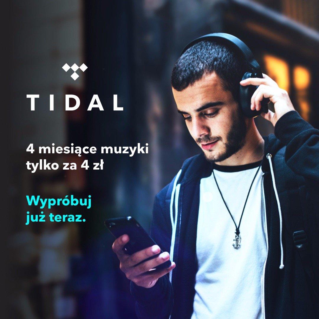 Ostatnia szansa na 4 miesiące nielimitowanej muzyki w najlepszej jakości TIDAL za jedyne 4 złote!
