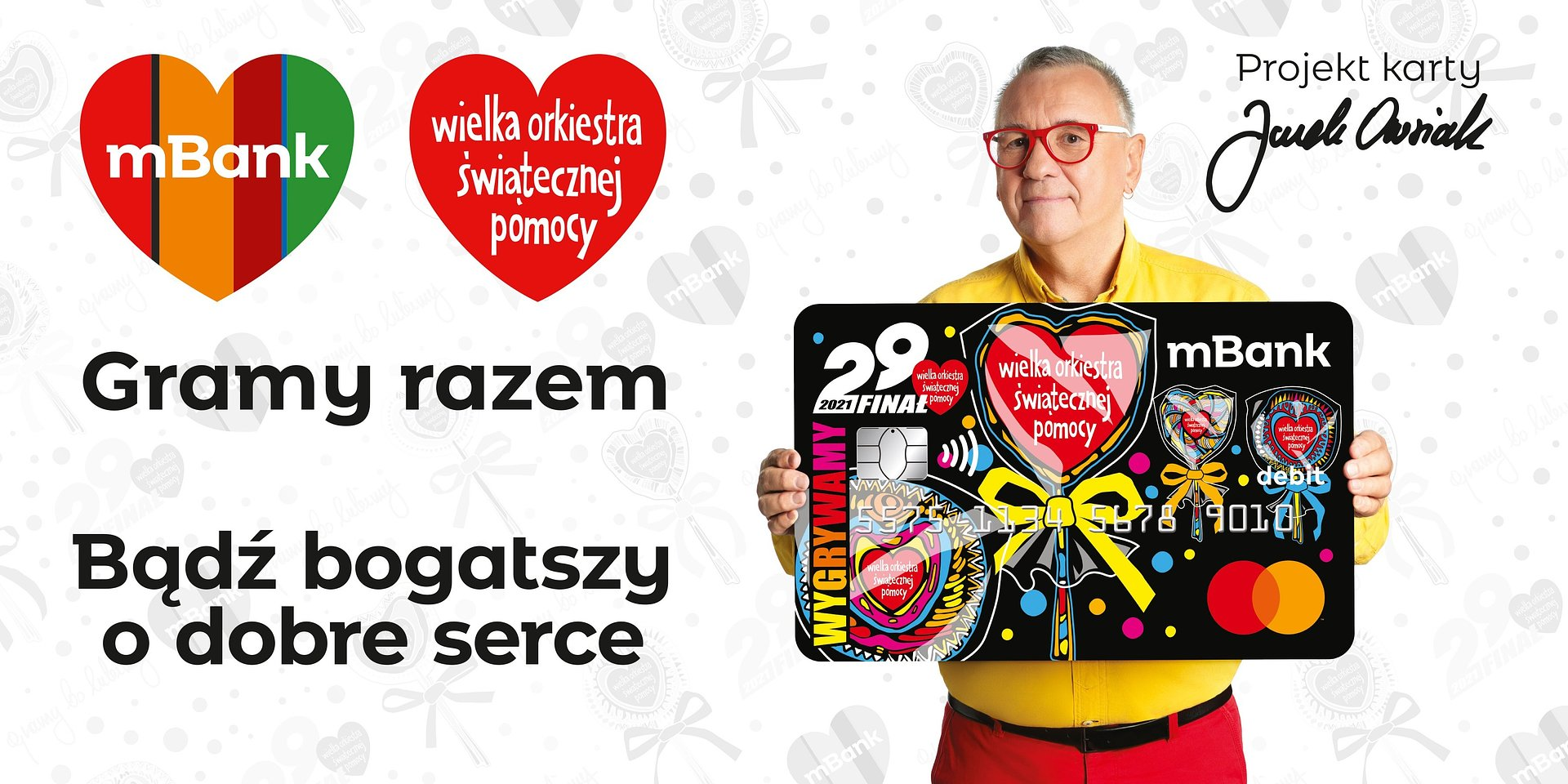 """BBDO dla mBank w akcji """"Bądź bogatszy o dobre serce"""" w WOŚP."""