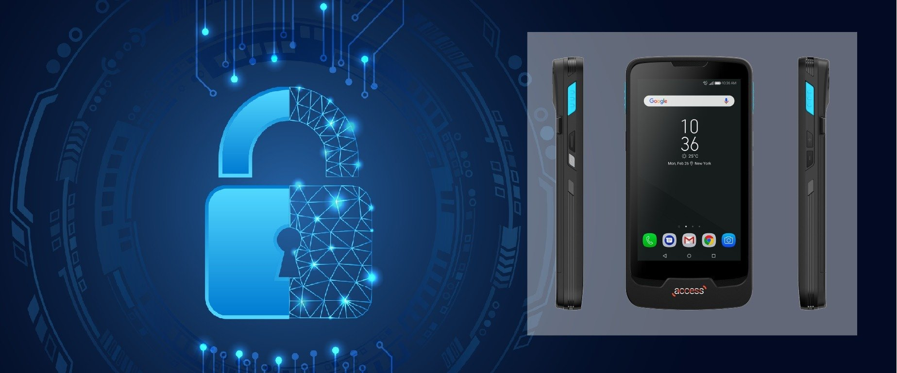 The latest in Coppernic range: Access, an ultra-secure terminal.
