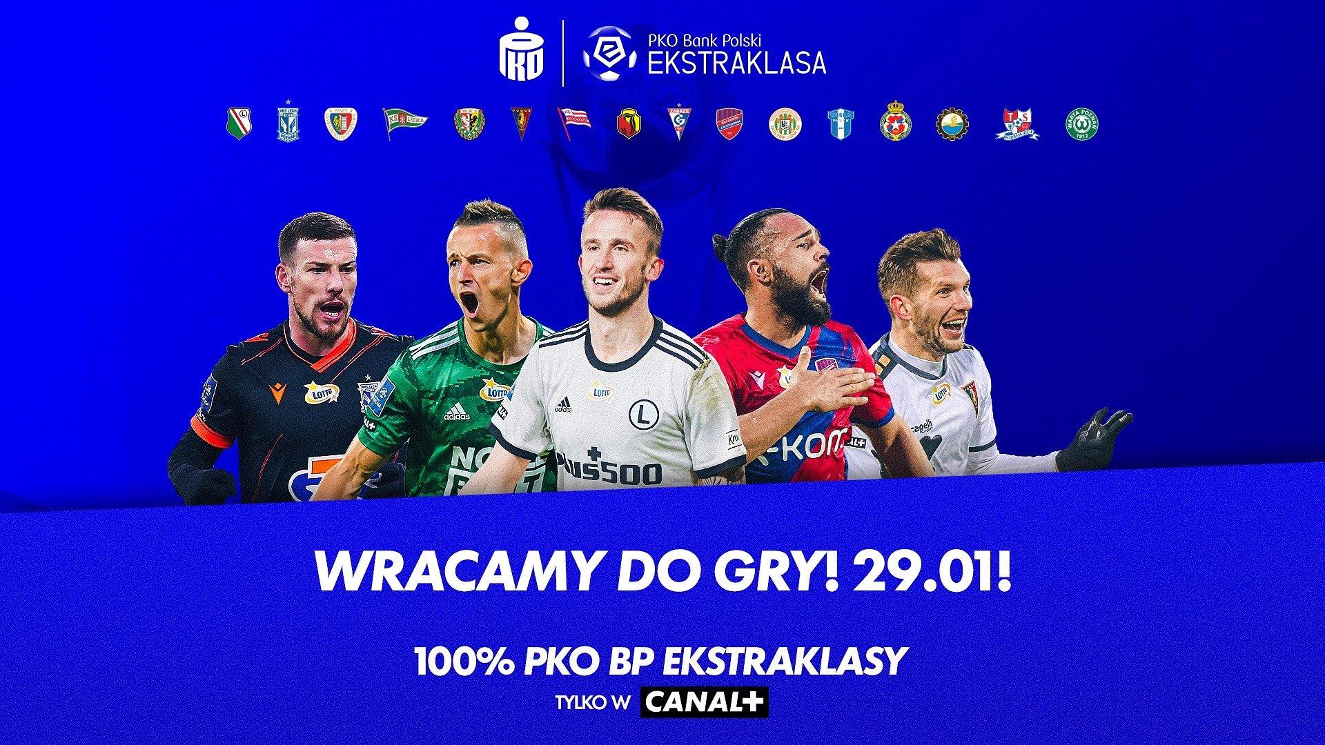 Wraca PKO Bank Polski Ekstraklasa! Zapowiedź weekendu w CANAL+ SPORT