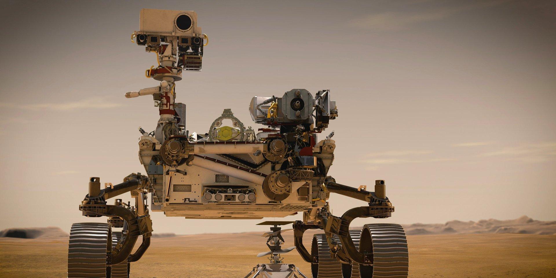 """W poszukiwaniu życia na Czerwonej Planecie. Premiera dokumentu """"Łazik Perseverance: z misją na Marsa"""" w National Geographic."""