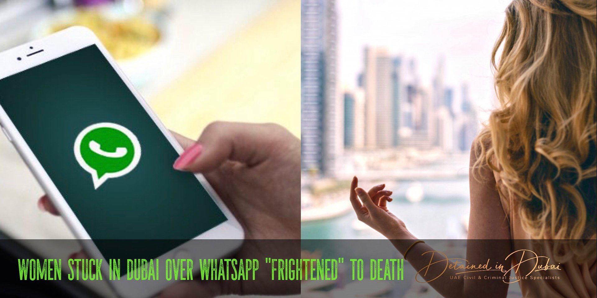 """Woman stuck in Dubai over WhatsApp """"frightened to death"""""""