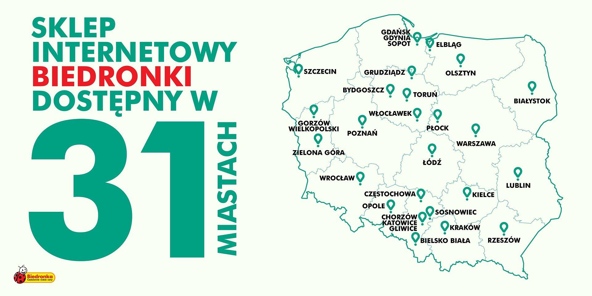 Bezpieczne e-zakupy w Biedronce z Glovo możliwe w kolejnych czterech miastach
