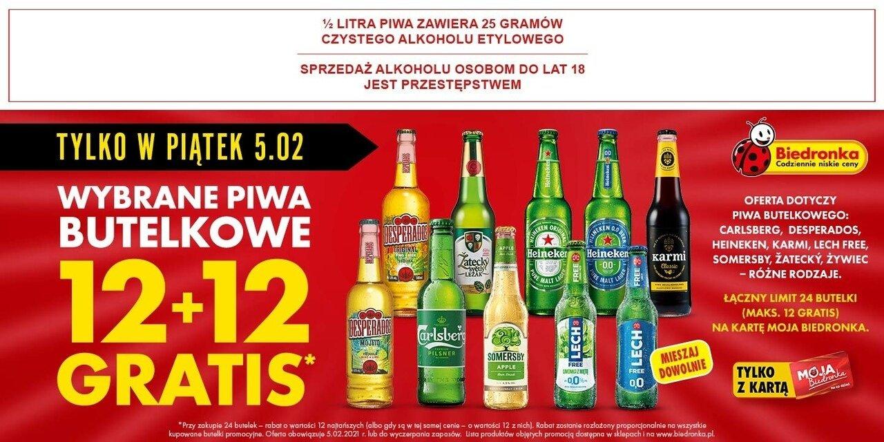 Kup 12 piw w Biedronce, drugie tyle dostaniesz za darmo