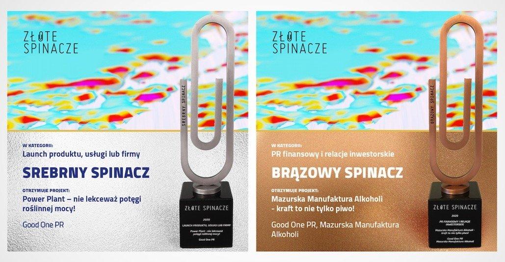 Good One PR z dwiema nagrodami w konkursie Złote Spinacze 2020