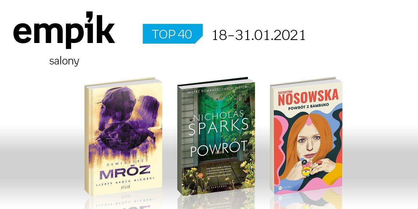Książkowa lista TOP 40 w salonach Empik za okres 18-31 stycznia