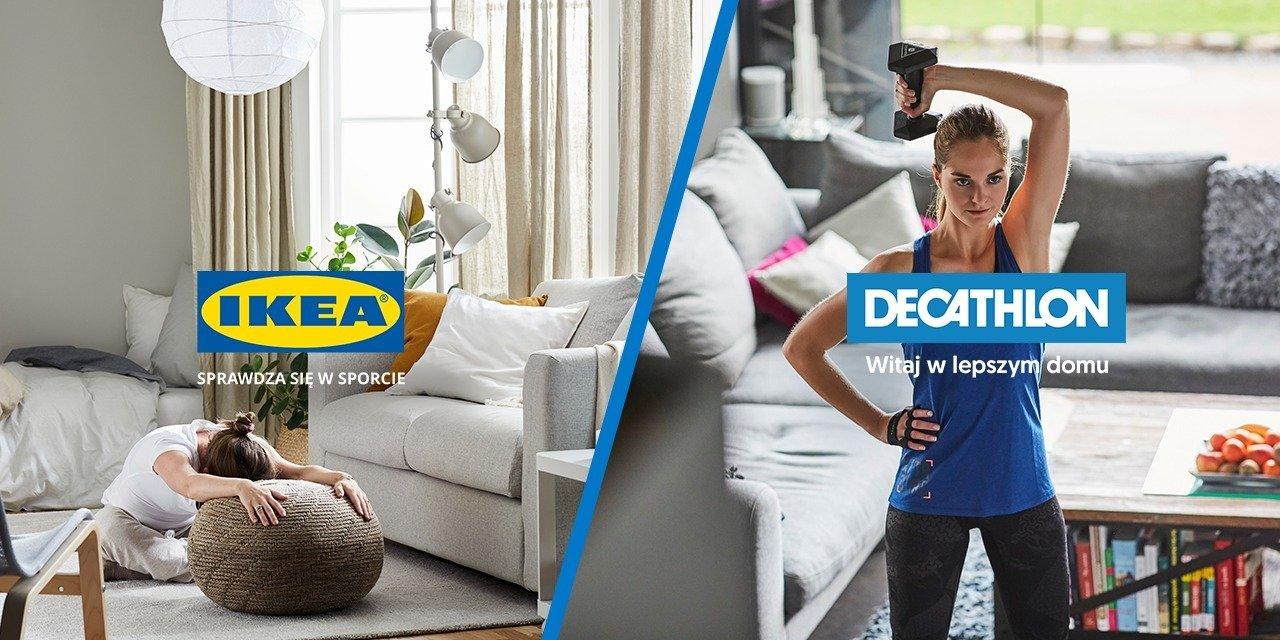 DECATHLON i IKEA ćwiczą razem w domu i… wymieniają się hasłami reklamowymi