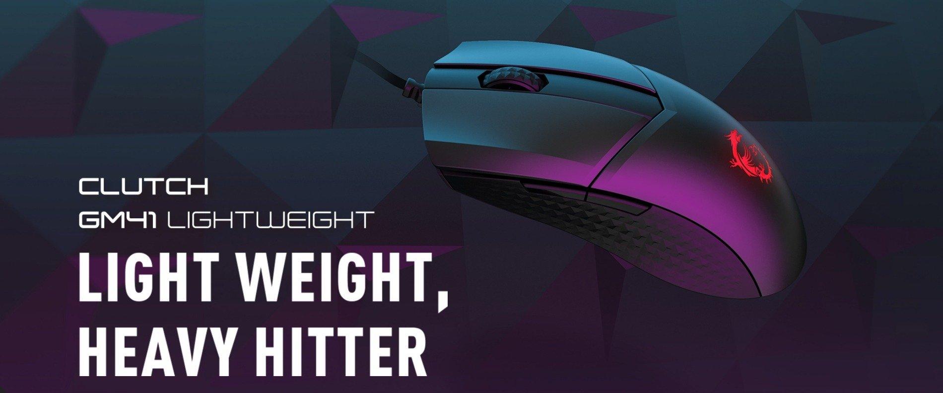 MSI przedstawia myszkę CLUTCH GM41 LIGHTWEIGHT i słuchawki IMMERSE GH20