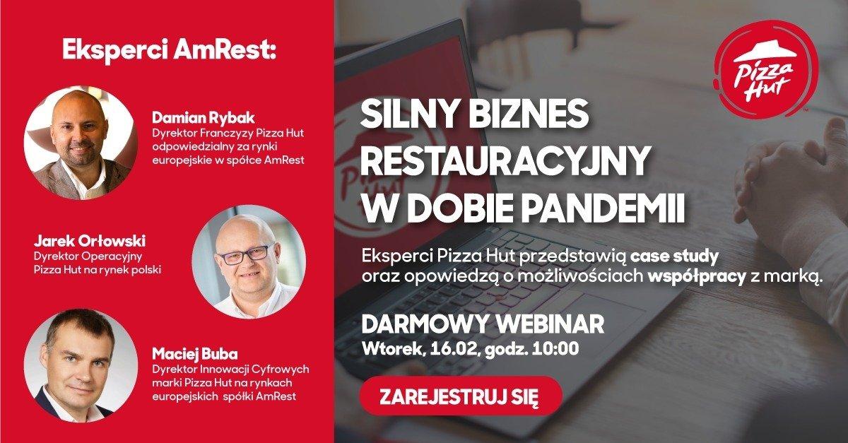 Webinar Pizza Hut: Silny biznes restauracyjny w dobie pandemii