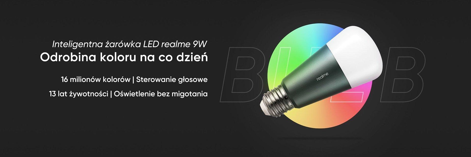 realme Smart Bulb. Inteligentna żarówka RGB sterowana głosem już dostępna w Polsce