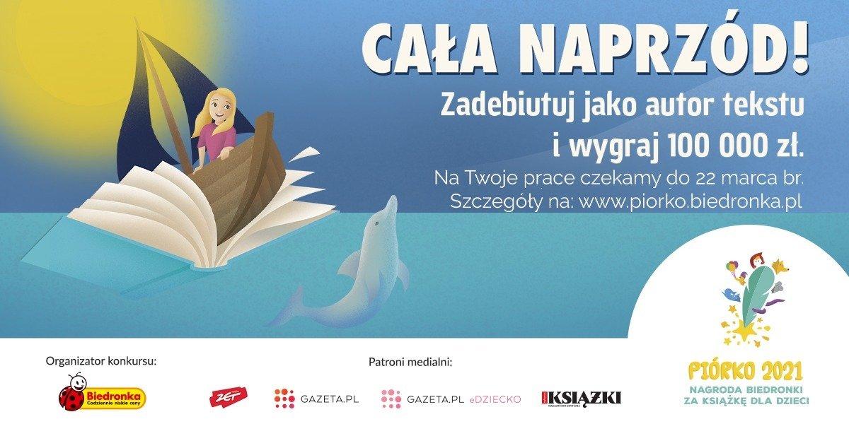 Cała naprzód po nagrodę w konkursie Piórko na książkę dla dzieci