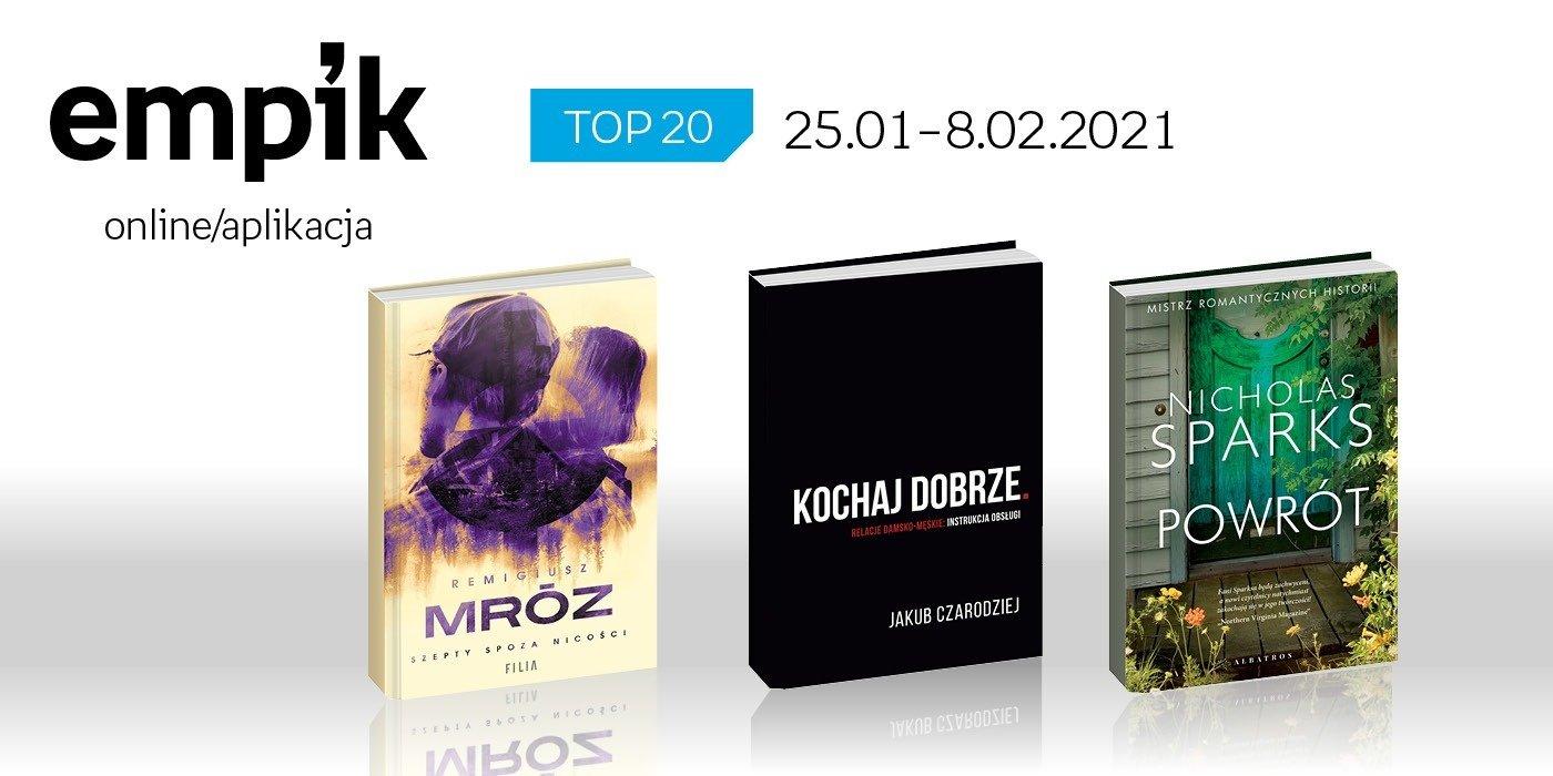 Książkowa lista TOP 20 na Empik.com za okres 25 stycznia - 8 lutego