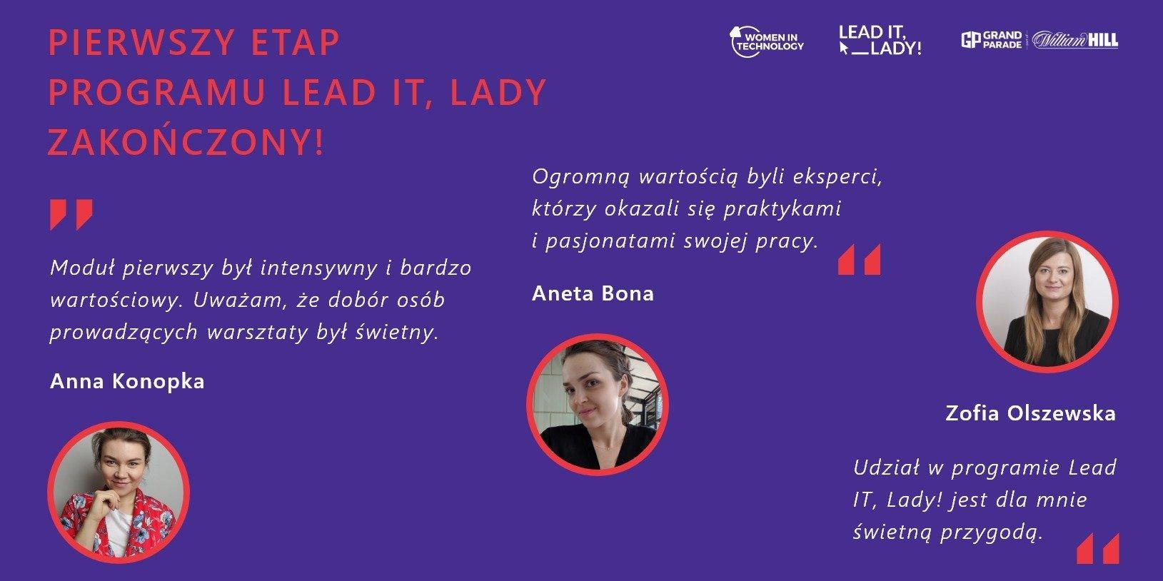 Pierwszy etap programu Lead IT, Lady zakończony!