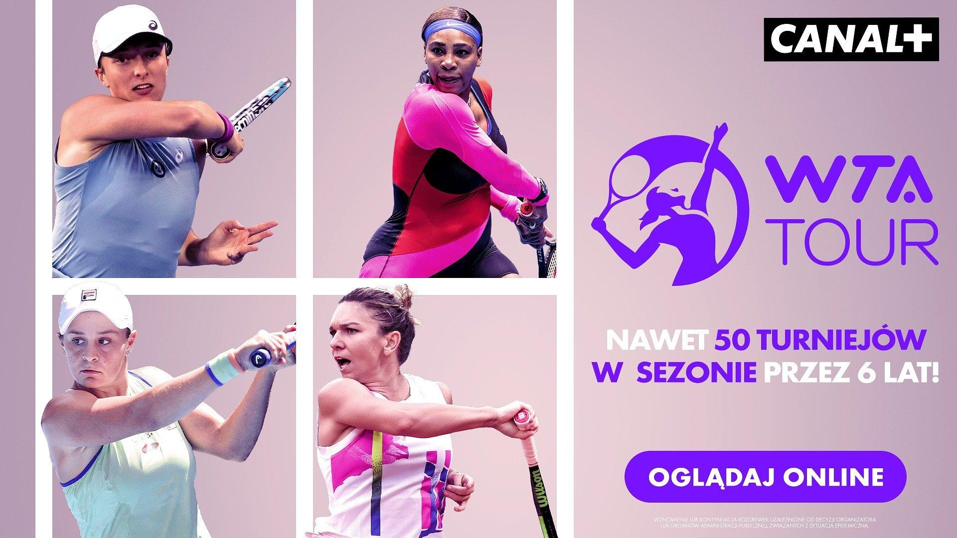 WTA Tour nabiera tempa. Mecze Igi Świątek na antenie CANAL+!