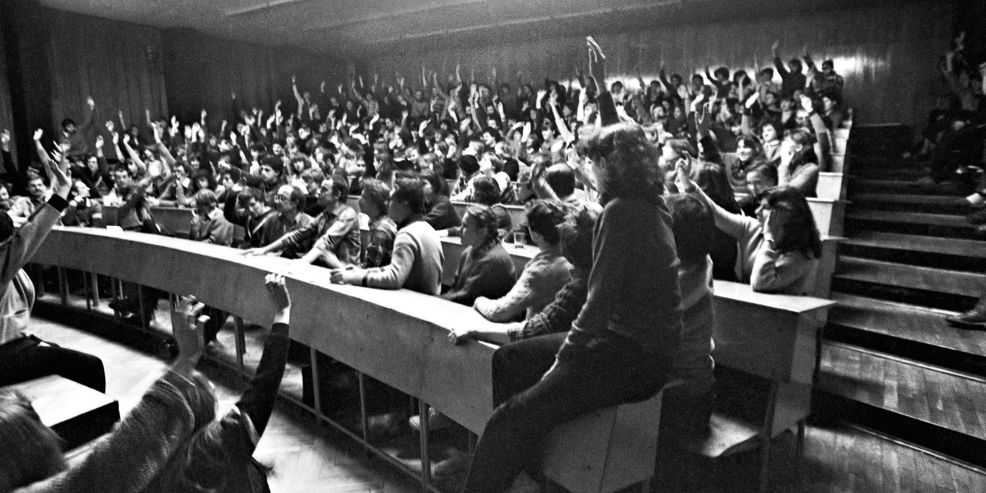Łódzki strajk studentów 1981 - otwarcie wystawy przed UMŁ