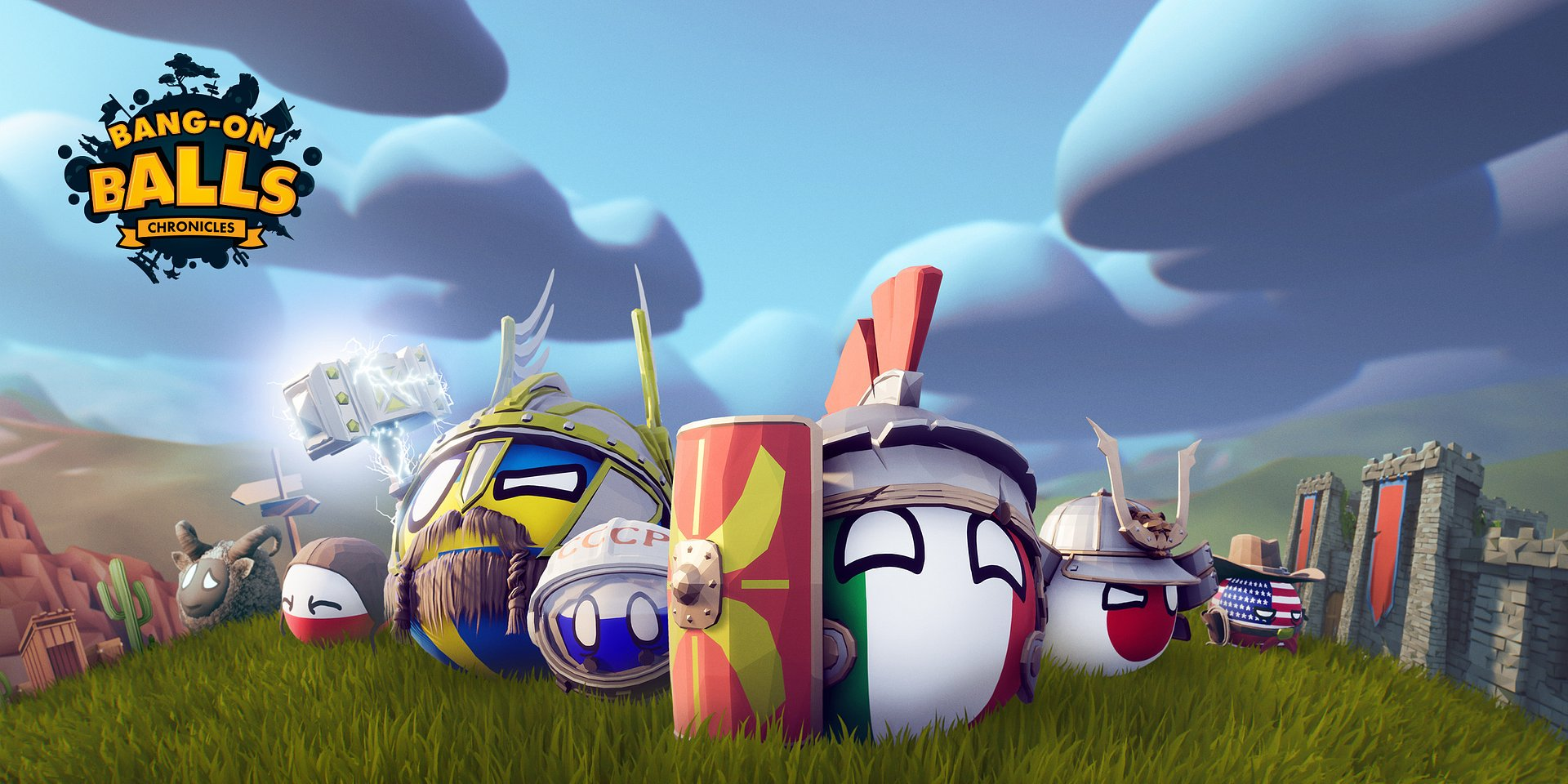 Exit Plan Games turla Bang-On Balls: Chronicles - pełną akcji i niszczenia otoczenia, prawie-historyczną platformówkę 3D!