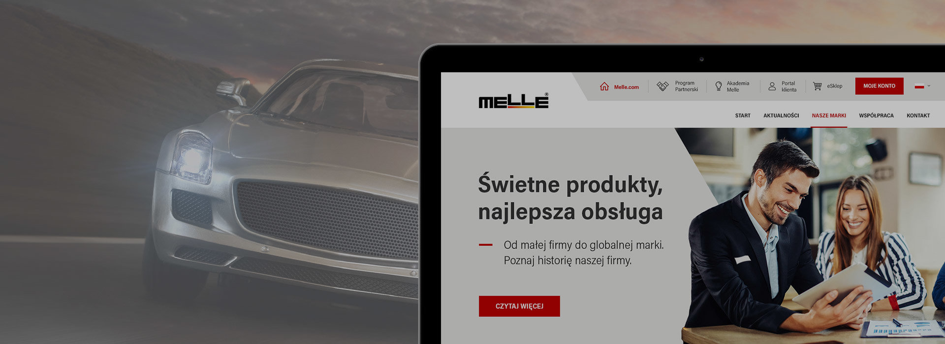 Melle - rebranding of the clients online B2B and B2C ecosytems