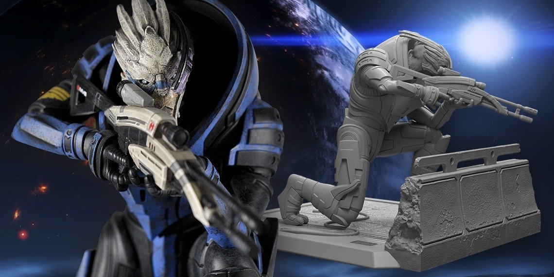 CALIBRATE THIS! 2 NEW GARRUS STATUES LAUNCH AT THE BIOWARE GEAR STORE