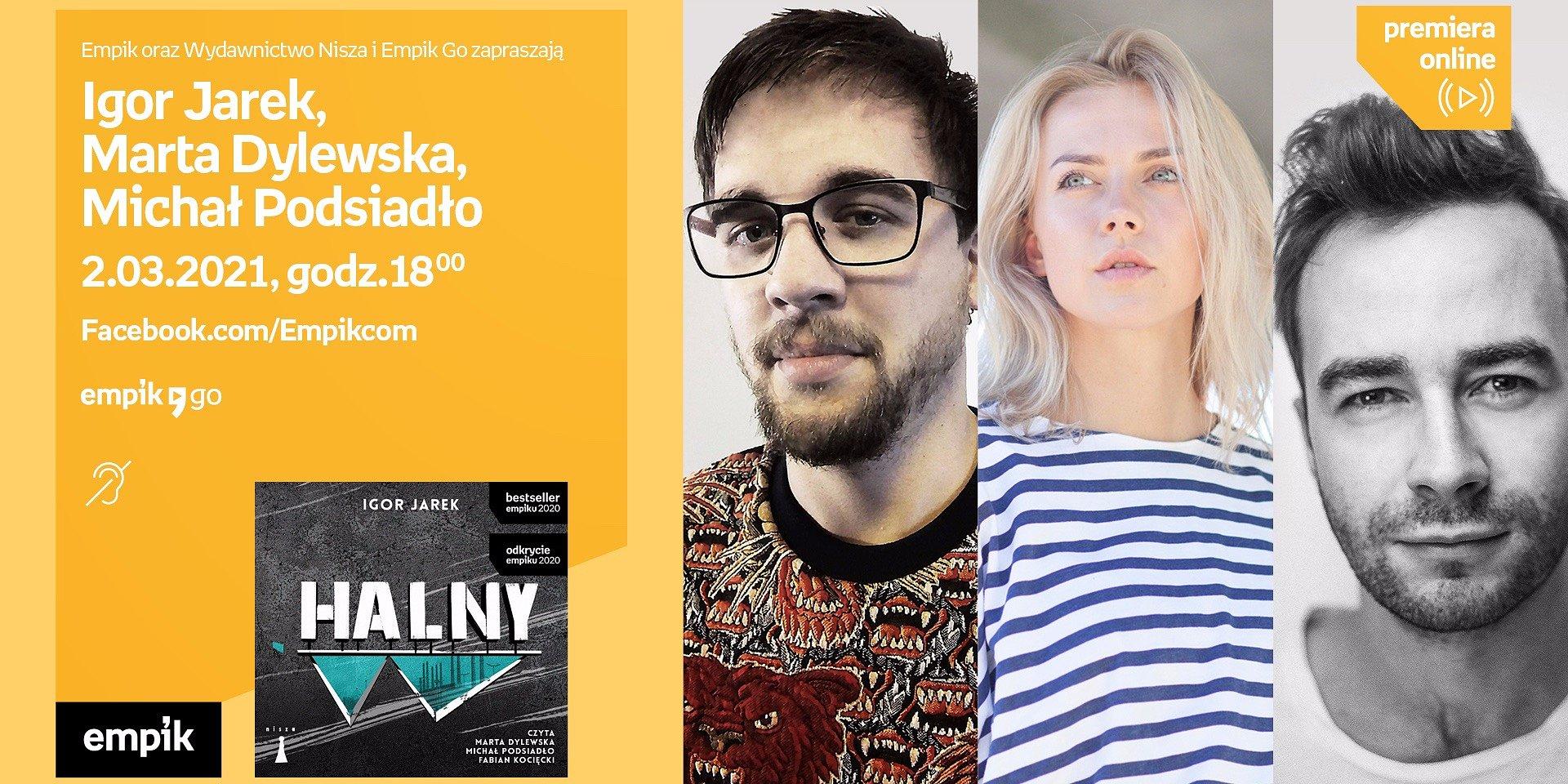 """""""Halny"""" – premiera audiobooka. Spotkanie online z autorem Igorem Jarkiem i aktorami"""