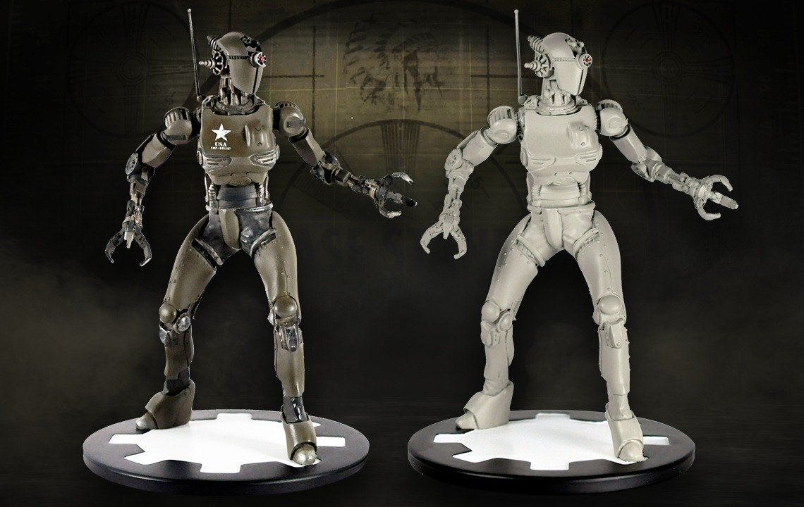 2 Limited-Edition Assaultrons Storm the Bethesda Gear Store