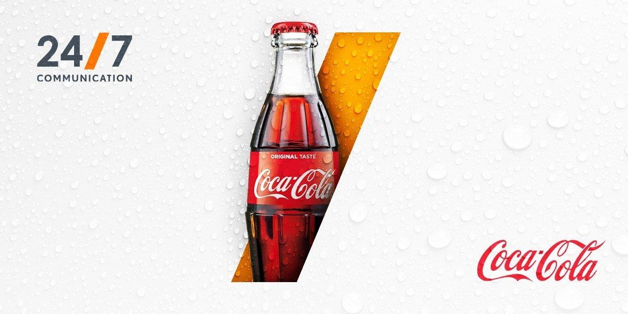 Coca-Cola nowym klientem 24/7Communication