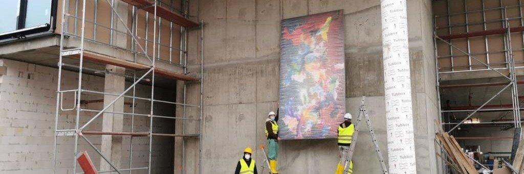 Urban und expressiv: HB Reavis kooperiert bei DSTRCT-Neubau mit dem Künstler Christian Awe