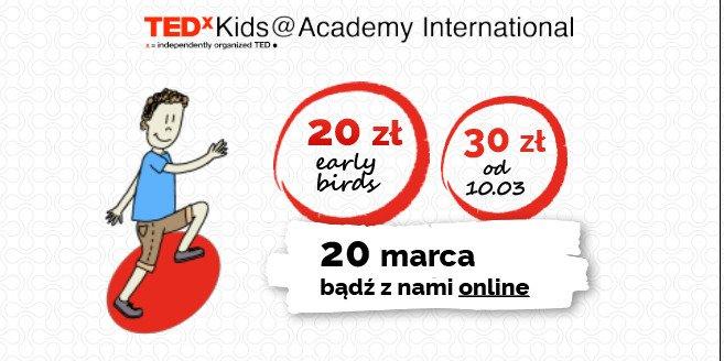 Bilety na TEDxKids już w sprzedaży!