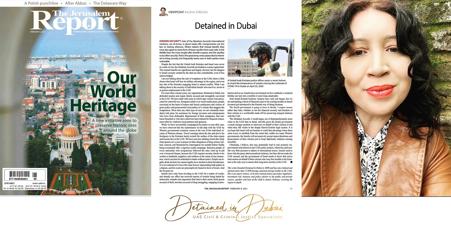 Detained in Dubai - by Radha Stirling - The Jerusalem Report