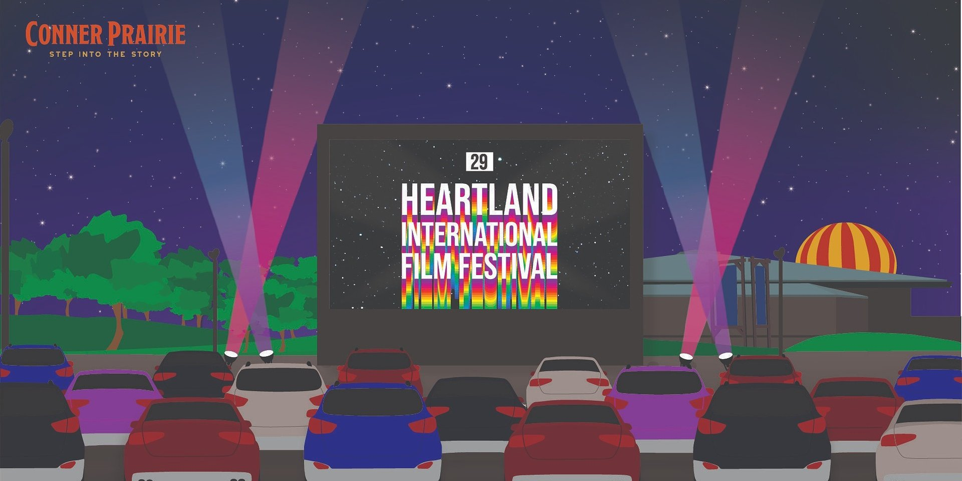 Heartland Film Announces Partnership with Conner Prairie for a Pop-Up Drive-In Theatre experience during the 29th Annual Heartland International Film Festival this October
