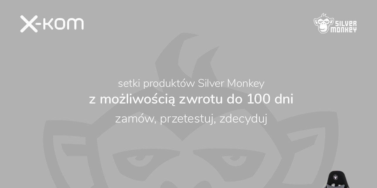 Produkty Silver Monkey mają 100 dni na zwrot!