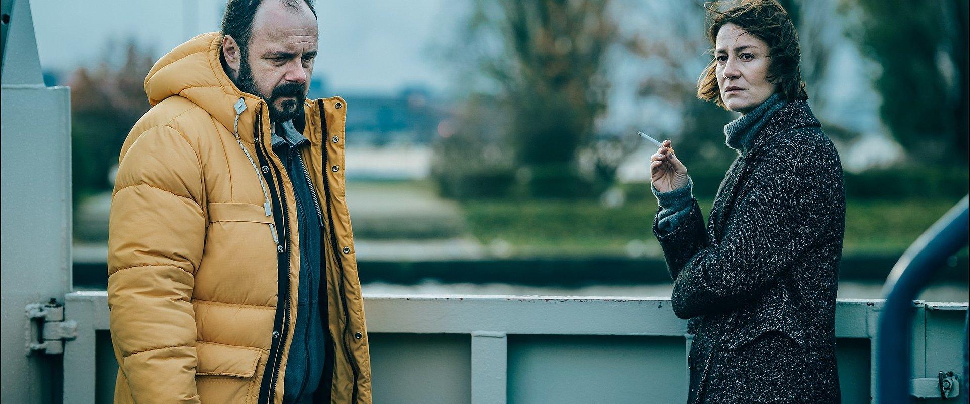 CANAL+ prezentuje bohaterów serialu KLANGOR: Arkadiusz Jakubik jako Rafał Wejman i Maja Ostaszewska jako Magda Wejman.