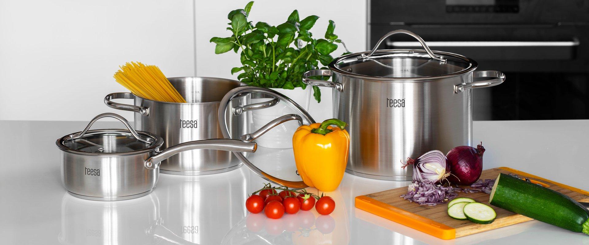 Teesa wprowadza do oferty garnki i akcesoria kuchenne ze stali nierdzewnej