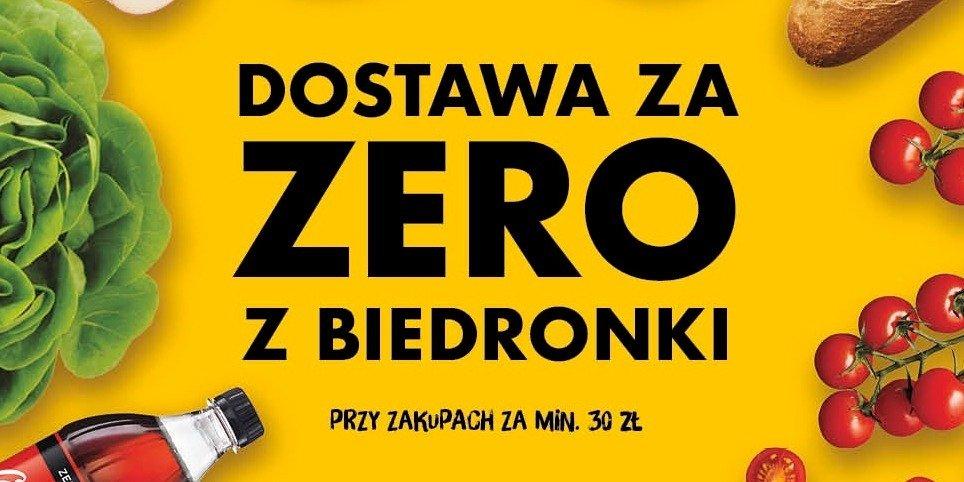 Tydzień darmowych dostaw zakupów z Biedronki przez Glovo
