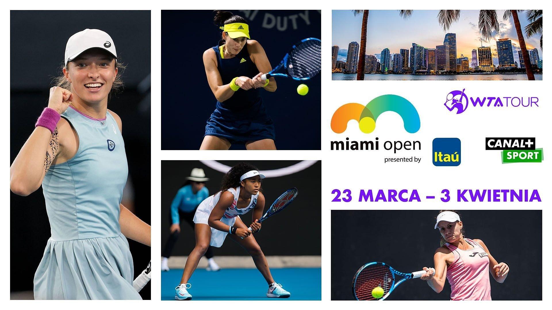 Iga Świątek i Magda Linette wystartują w prestiżowym turnieju Miami Open