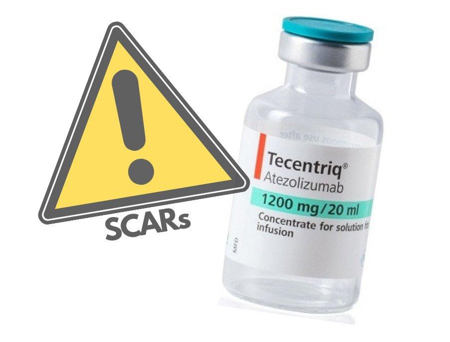 TECENTRIQ (atezolizumab): ryzyko ciężkich niepożądanych reakcji skórnych