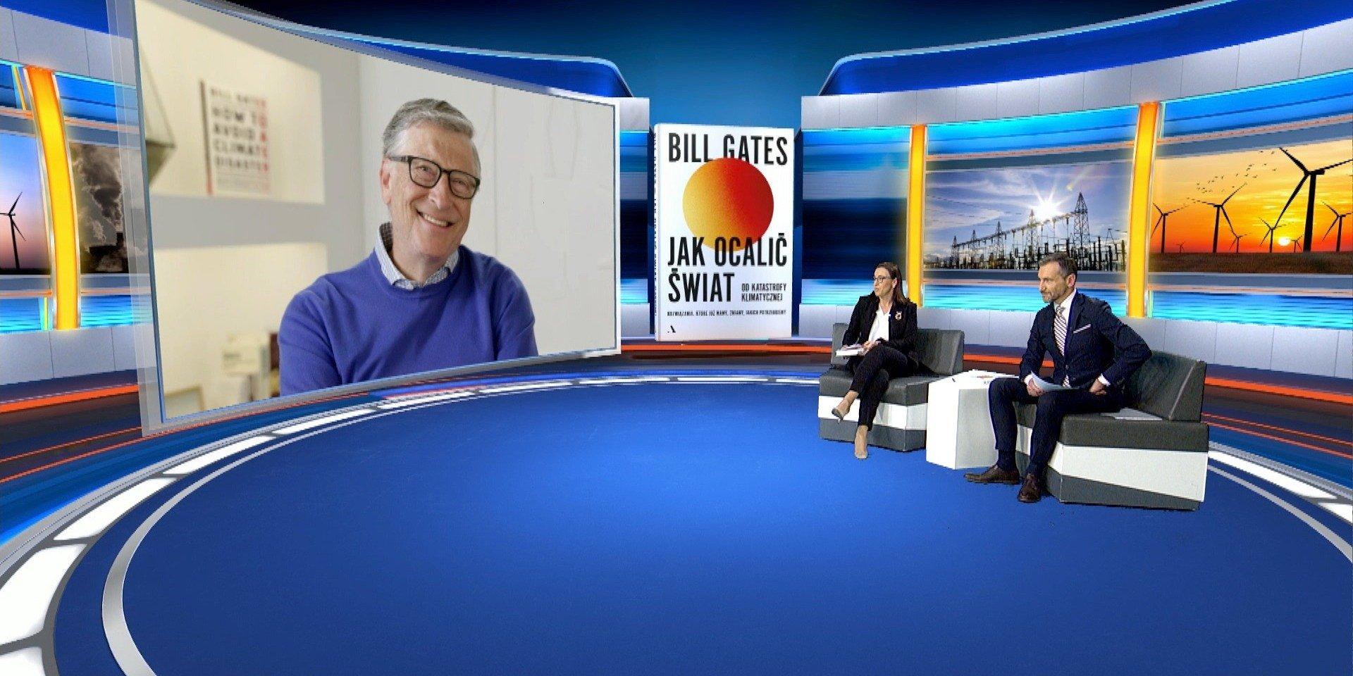 """Ekskluzywny wywiad TVN24 i """"Gazety Wyborczej"""" z Billem Gatesem od 25 marca w TVN24 GO!"""