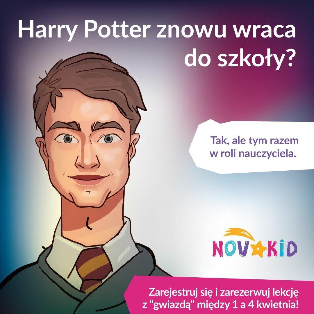 Harry Potter i królowa Elżbieta II uczą angielskiego w szkole dla dzieci